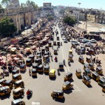 View from Charminar, Hyderabad, IN